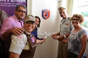A inauguração contou com a presença do Cmtd. geral da PM Anselmo Brandão. (Foto:Reprodução/PMBA)