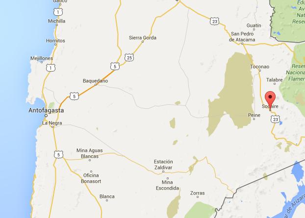 Tremor Chile (Mapa: Google Maps)