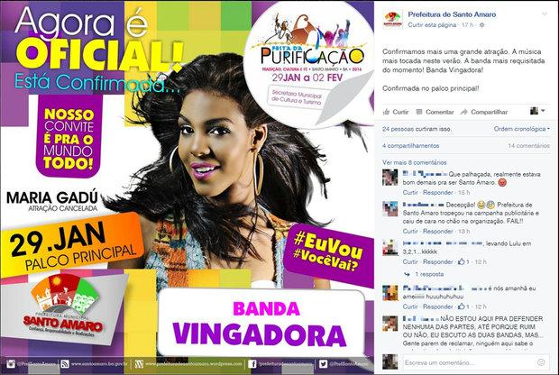 Divulgação: Facebook