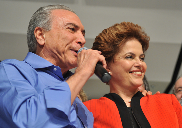 Dilma Rousseff e Michel Temer (Foto Reprodução Wikipedia)