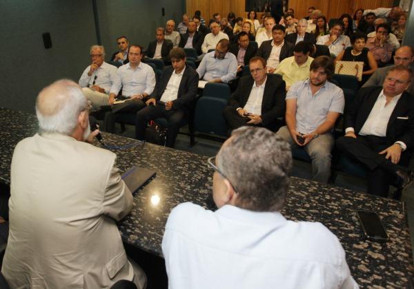 Apresentação do projeto do VLT para empresarios Foto: Elói Corrêa/GOVBA