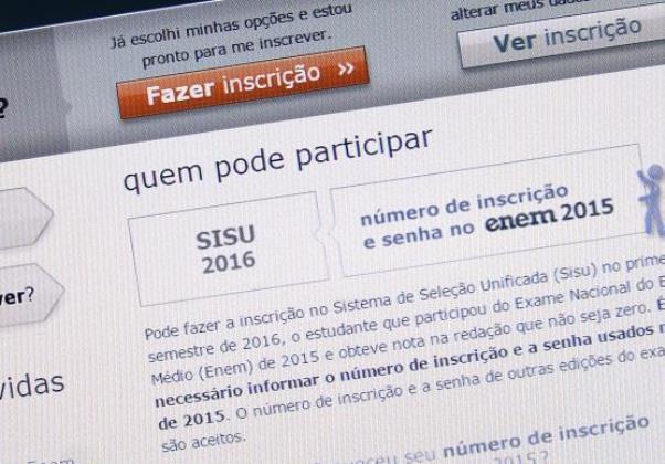 Já é possível acessar pela internet a nota mínima necessária para passar em cada um dos cursos oferecidos pelo Sisu (Foto Agência Brasil)