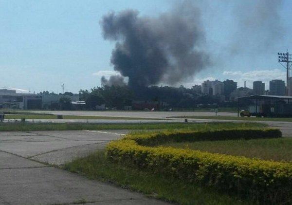 Local da queda do avião monomotor em SP (Foto: Agência Estado)