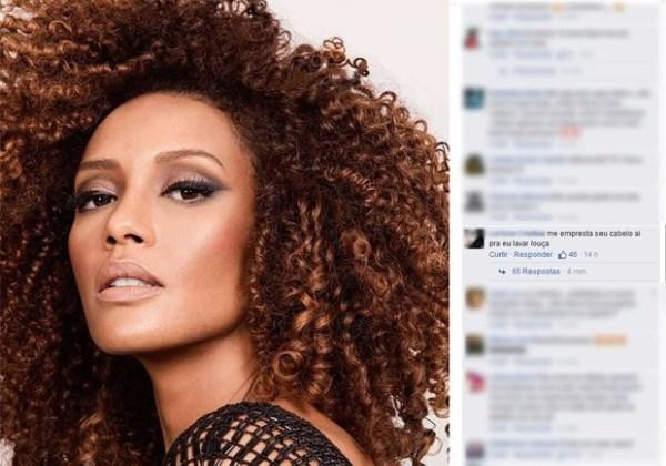 Taís Araújo é alvo de comentários racistas em rede social Foto: Reprodução/Facebook