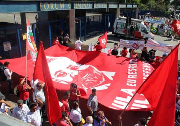 Ato pró-Lula (Foto Reprodução Blog Sintaema SP)
