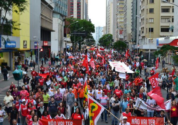 Manifestação CUT (Foto Divulgação CUT/PR)