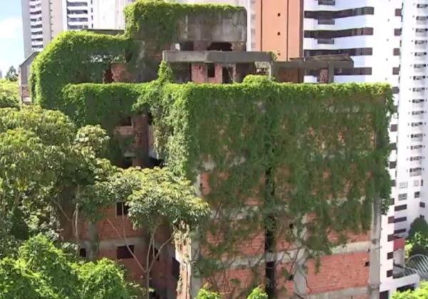 Prédio no bairro do Horto Florestal. Foto: Reprodução/TV Bahia