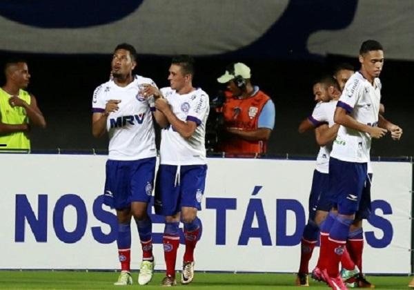 Com a vitória, o Bahia ganha a vantagem de poder perder de 2 a 0 no jogo de volta Felipe Oliveira/ EC Bahia/ Divulgação)