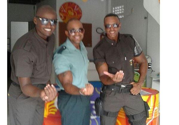 Três finalistas do Concurso Segurança Negro Gato. Foto: Divulgação/A Voz do Subúrbio