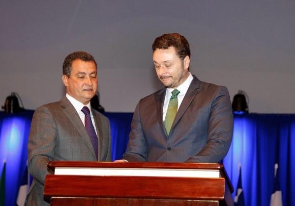 Rui Costa na nomeação do secretário Manoel Vitório (Foto: Mateus Pereira/ Governo da Bahia)