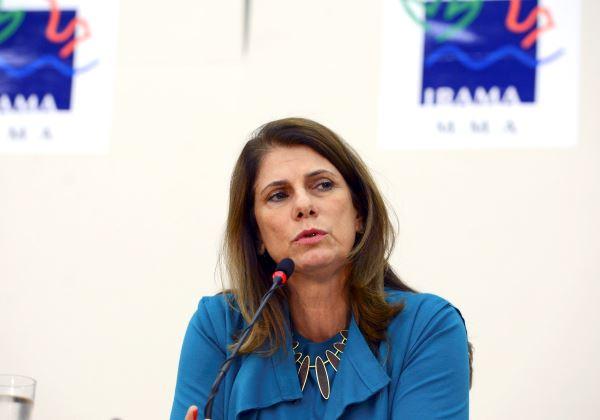 Brasília - A presidente do-Ibama, Marilene Ramos fala sobre o desastre ecológico em Mariana/MG, cujas repercussões começam a ser percebidas em Abrolhos/BA (Valter Campanato/Agência Brasil)
