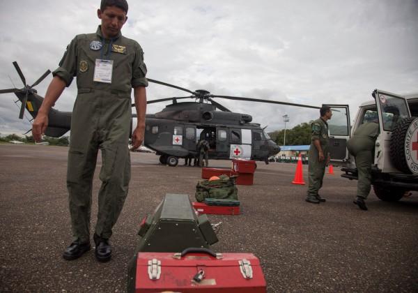Brasil e Cruz Vermelha em resgate de reféns das Farc (Foto : Comitê-Internacional-da-Cruz-Vermelha/Boris-Heger)