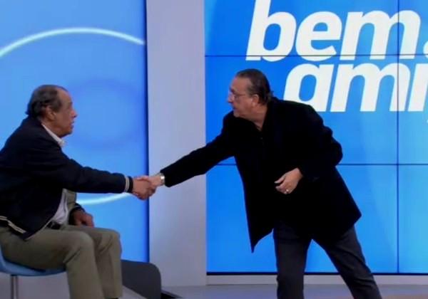Carlos Alberto também era colega de trabalho de Galvão Bueno no SporTV (Foto: Reprodução/SporTV).