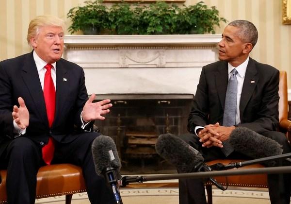 Obama e Trump, primeiro encontro (Foto: AP)