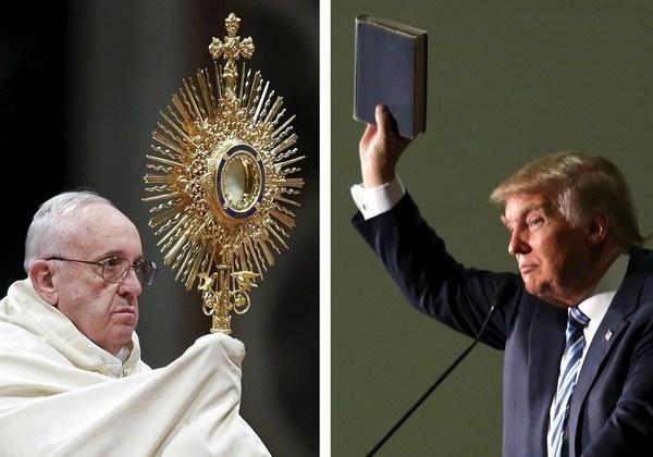 Papa x Trump (Montagem)