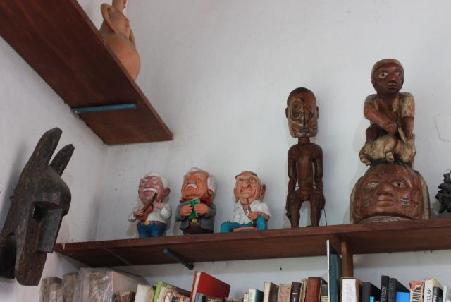Os 3 obás: Caymmi, Jorge Amado e Carybé, por João Valdênio. Foto: James Martins / bahia.ba
