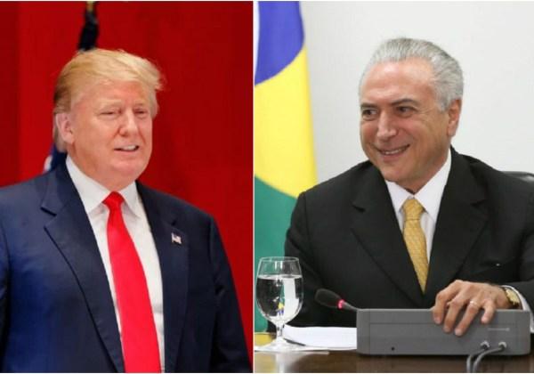 Trump & Temer (Fotomontagem Vikimedia)