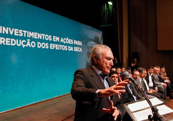 (Maceió - AL 27/12/2016) Presidente Michel Temer discursa durante Cerimônia de Anúncio de Investimentos em Ações para Redução dos Efeitos da Seca e Acesso à Água Foto: Beto Barata/PR