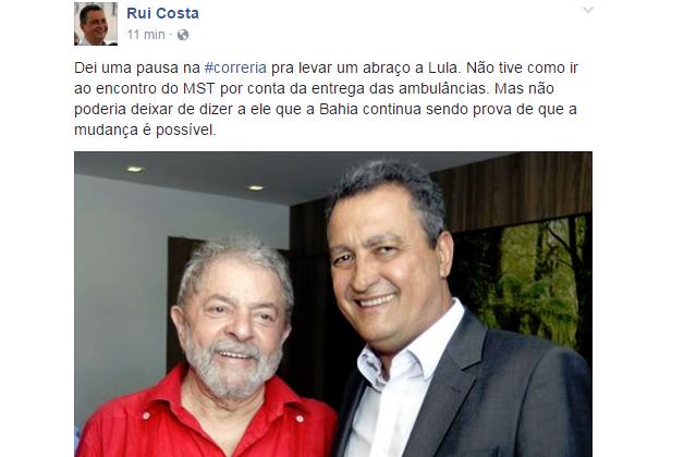 Rui Costa_Lula_reprodução_facebook