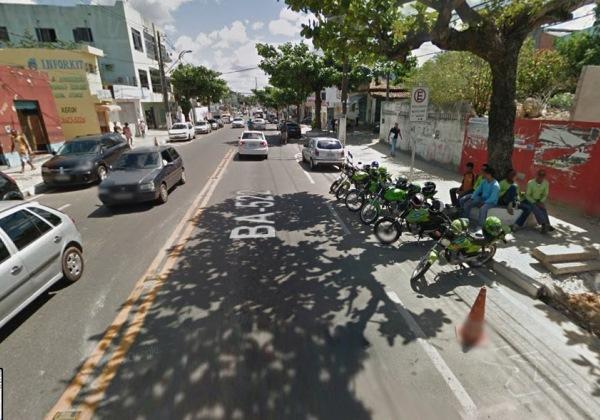 Imagem ilustrativa das proximidades de onde o crime aconteceu (Foto: Google Street View)