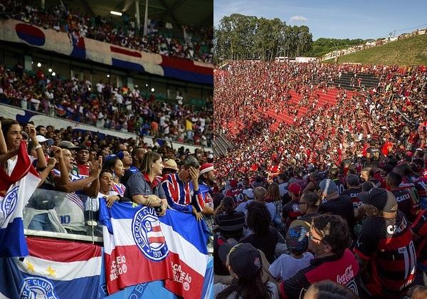 Foto: Felipe Oilveira/EC Bahia|Maurícia da Matta/EC Vitória|Montagem: bahia.ba