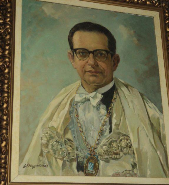 Retrato de Roberto Santos quando reitor da Ufba. Foto: Divulgação