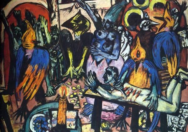 """Foto: Quadro """"O Inferno dos Pássaros de Max Beckmann"""