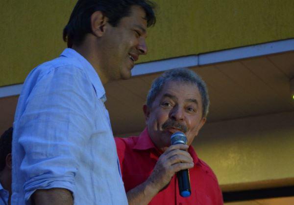 Lula admite possibilidade de apoiar Fernando Haddad à presidência da República