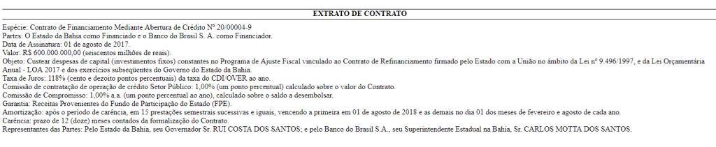 Foto: Reprodução/Diário Oficial do Estado