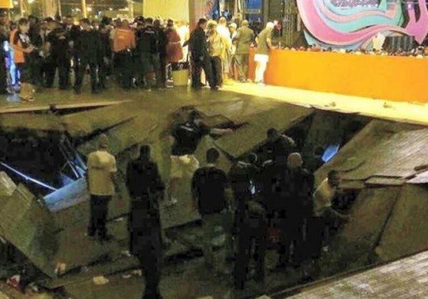 Parte de camarote desaba durante evento com Ivete Sangalo em Aracaju