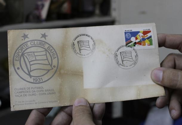 Envelope da série especial de selos comemorativos do Bahia Campeão Brasileiro de 1988.