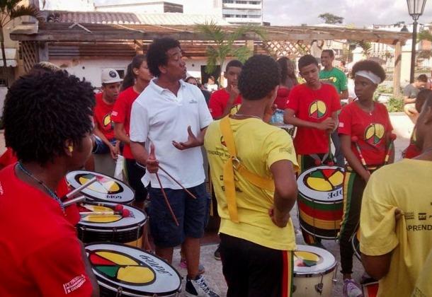 Tempos atuais: oficina de formação para jovens do Olodum (Foto: Acervo Pessoal).