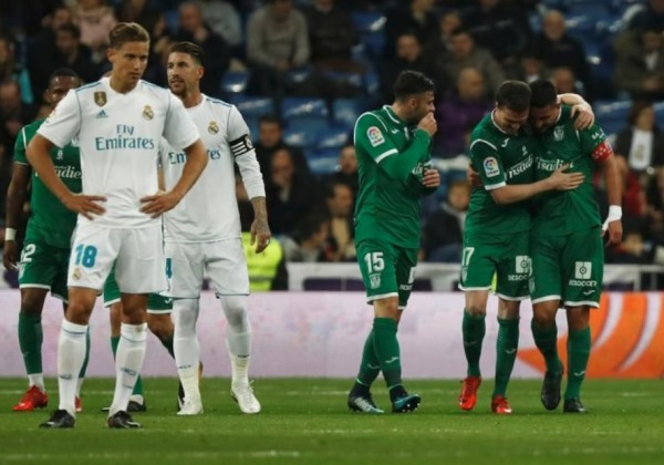Real Madrid perde do Leganés e é eliminado da Copa do Rei