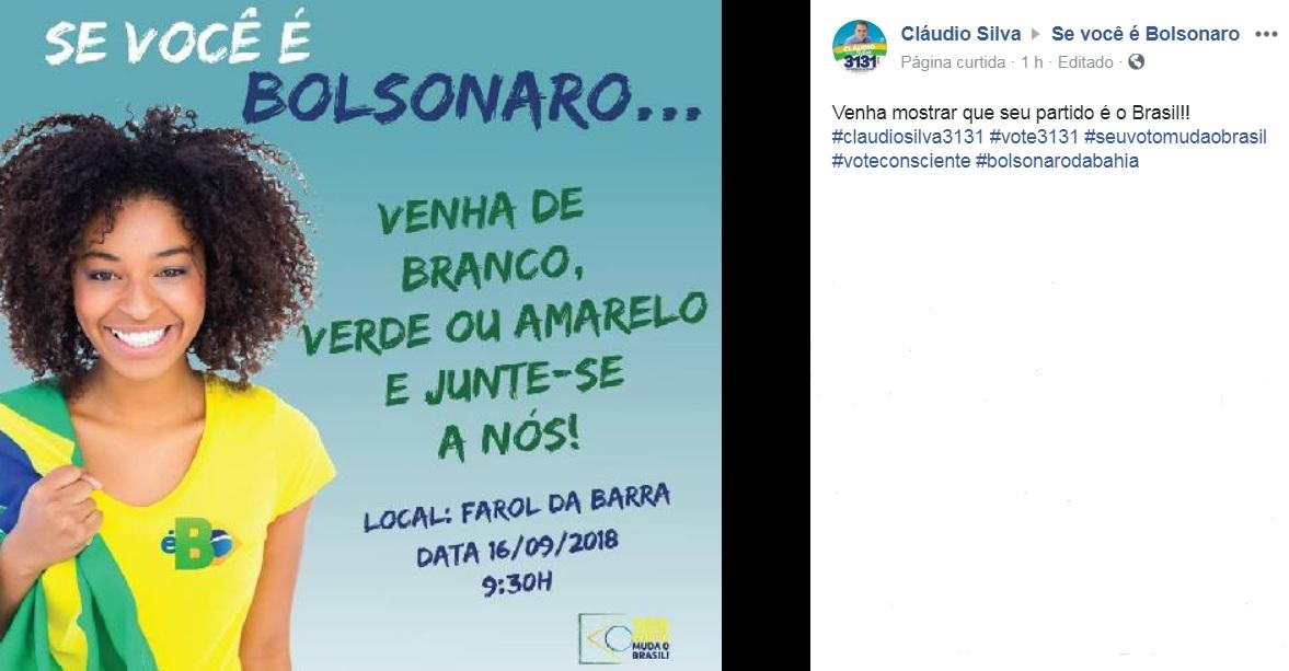evento claudio silva bolsonaro facebook