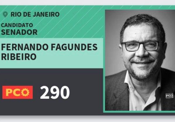 Resultado de imagem para Fernando José Fagundes Ribeiro, 54 anos, candidato ao Senado pelo Rio de Janeiro pelo Partido da Causa Operária (PCO).