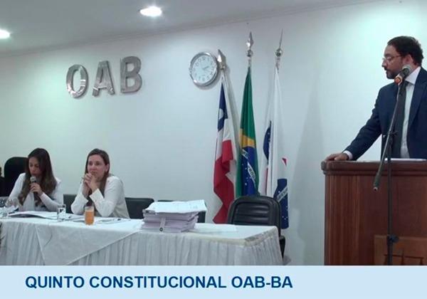 Trecho da sabatina de Marcelo Junqueira Ayres sendo transmitida ao vivo