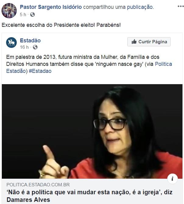 isidorio ministra facebook