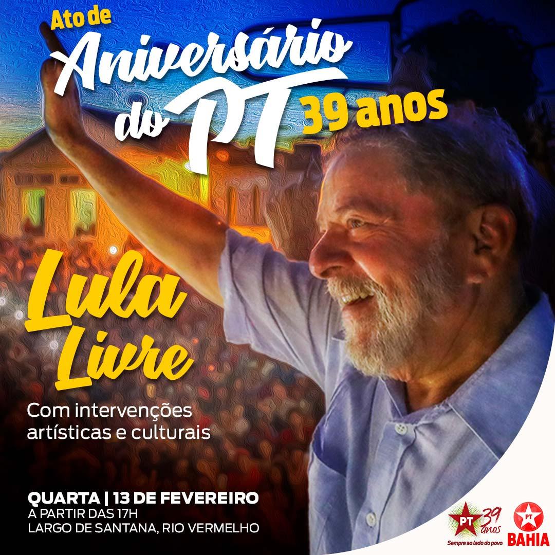 ato-pt-rio-vermelho Em comemoração aos seus 39 anos, PT faz atos pela liberdade de Lula Politica