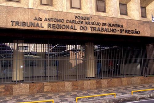 Fachada do TRT no Comércio. (Foto: Divulgação/TRT5)