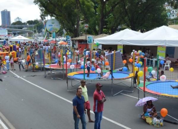 Rua de Lazer movimenta os domingos no Dique do Tororó. (Foto: Divulgação/Agecom)