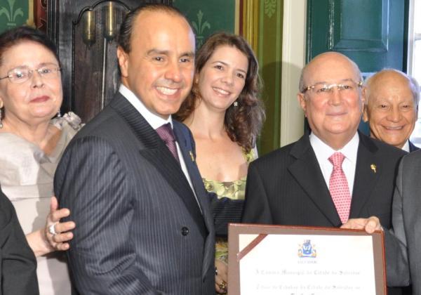 Advogado José Saraiva recebeu o título de Cidadão Baiano em 2012 I Foto: Rodrigo Soares e George Sami / CMS
