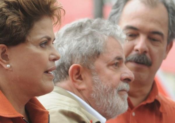 Dilma, Lula e Mercadante (Foto: Arquivo / Diário do Poder)