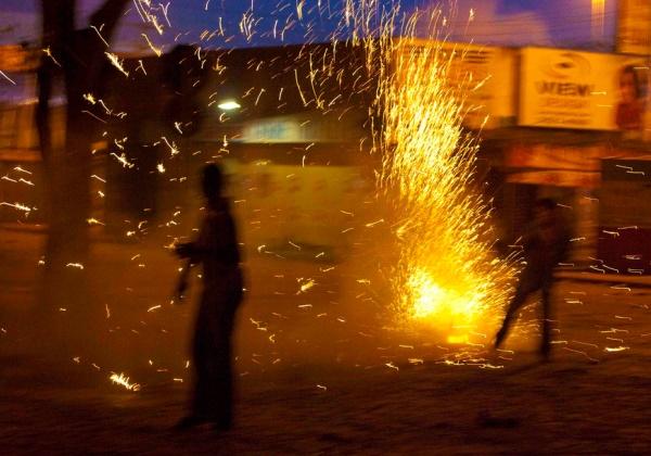 Guerra de espadas no São João de Cruz das Almas (Foto: Eber Paz/ Flickr)
