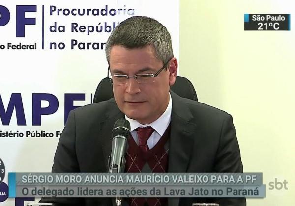 Foto: Maurício Valeixo, diretor-geral da Polícia Federal (Foto: Reprodução/SBT)