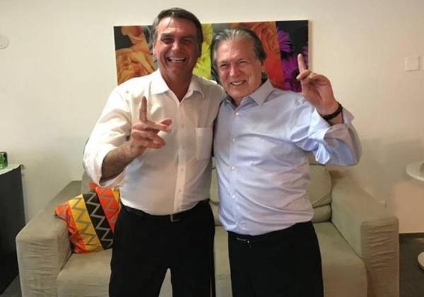 O presidente Jair Bolsonaro e Luciano Bivar, presidente do PSL (Divulgação/PSL)