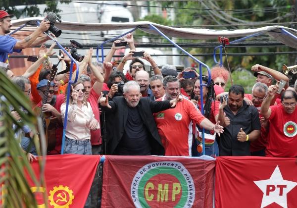 São Bernardo 09/11/2019 Lula no Sindicato do Metalurgicos do ABC. Foto Paulo Pinto/FotosPublicas