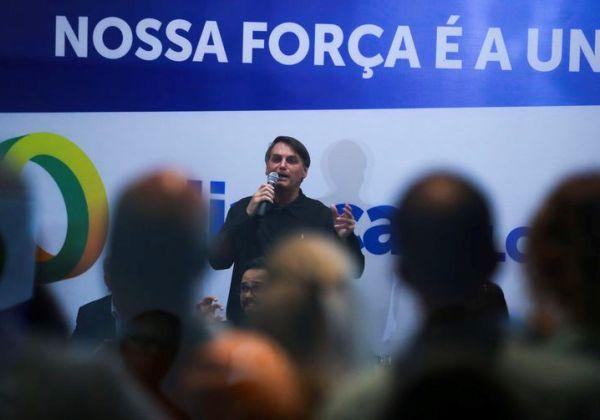 O presidente Jair Bolsonaro participa de evento do partido Aliança pelo Brasil ( José Cruz/Agência Brasil)