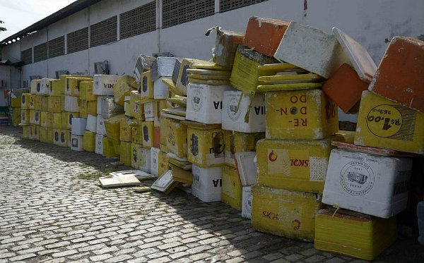 Materiais recolhidos pela Semop. Foto: Inácio Teixeira/Secom