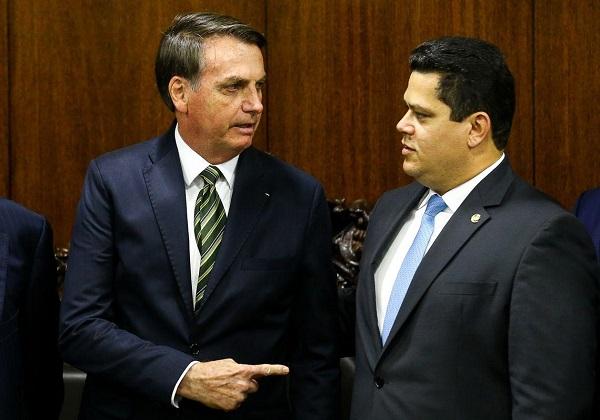 Jair Bolsonaro e Davi Alcolumbre (Marcelo Camargo/Ag.Brasil)