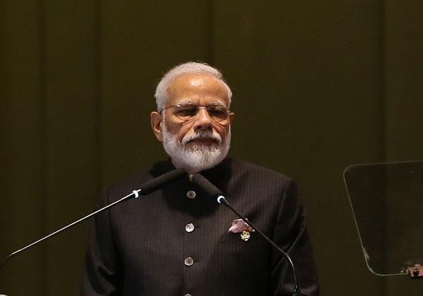 O  Primeiro-ministro da República da Índia, Narendra Modi, durante diálogo dos Líderes com o Conselho Empresarial do BRICS (Foto: Valter Campanato/Agência Brasil)
